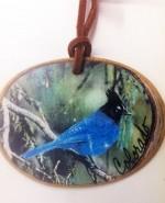 omi891 colorado blue jay ornament