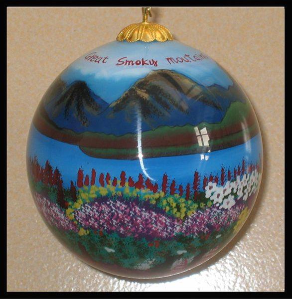 great smoky mountains colorado ornament