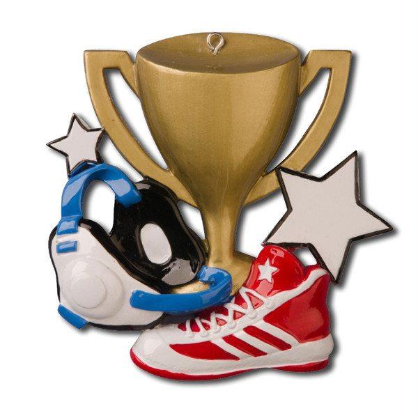 wrestling shoe ornament