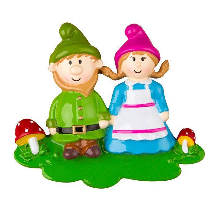 gnome family of 2 ornament