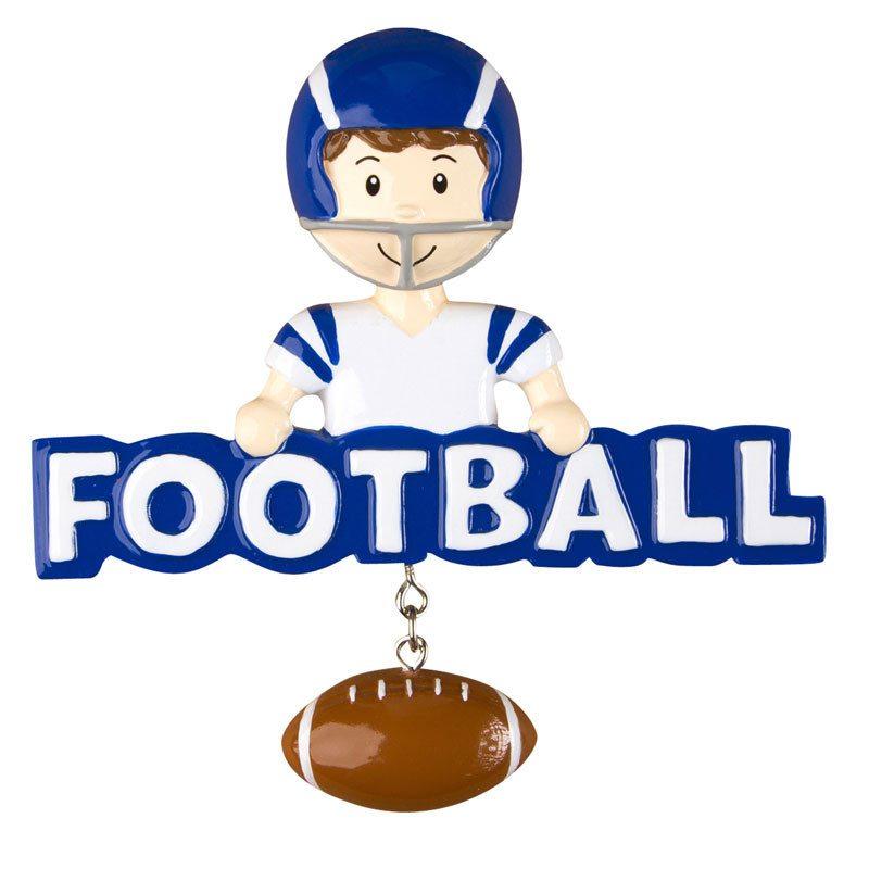 blue football ornament