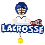 lacrosse boy ornament