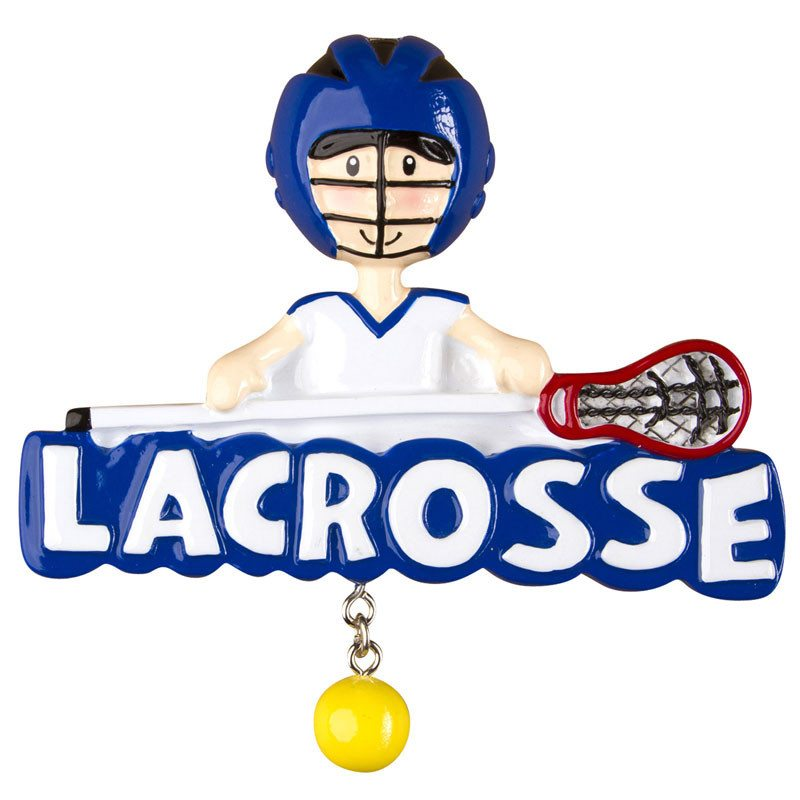 lacrosse boy ornament