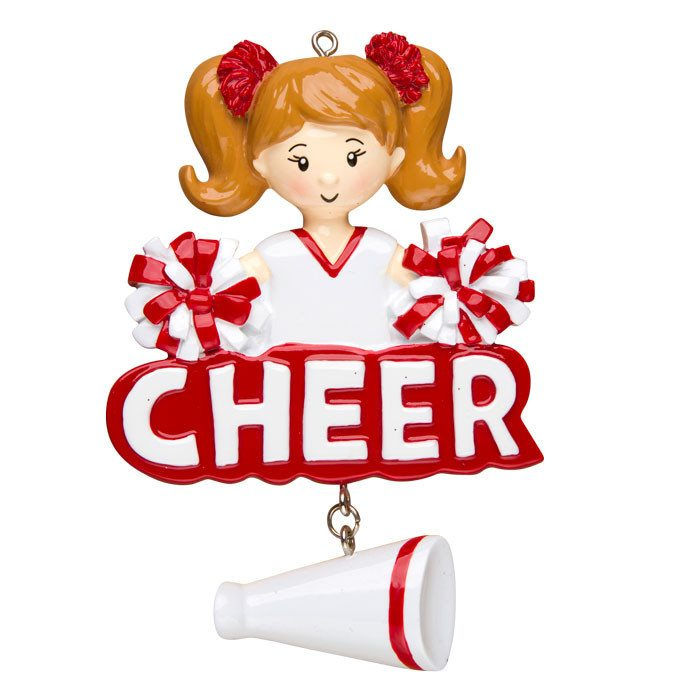 cheer cheerleader ornament