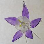 purple glass columbine ornament