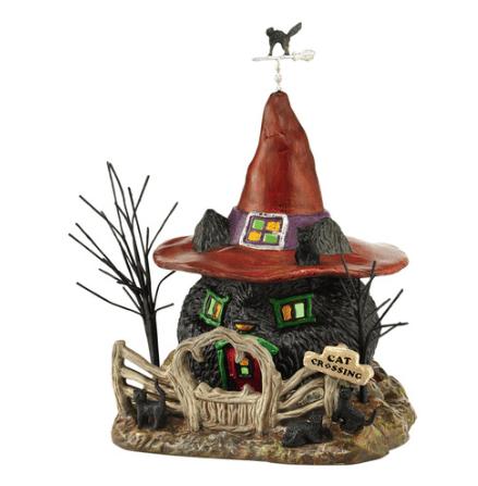 department 56 black cat shack halloween village