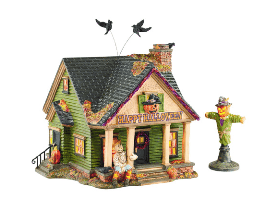 scarecrow house halloween d56 village