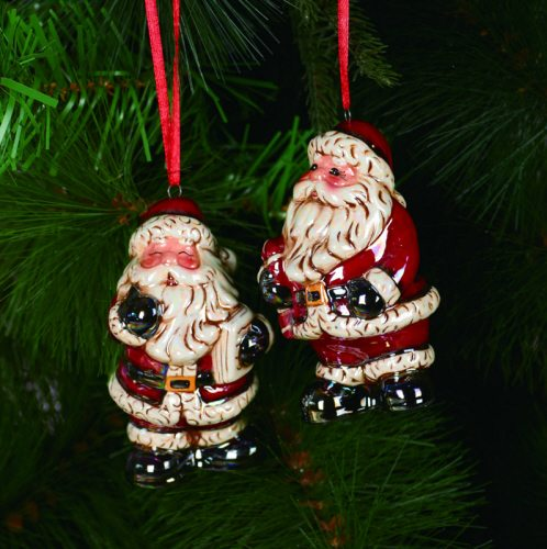 ceramic santa ornaments