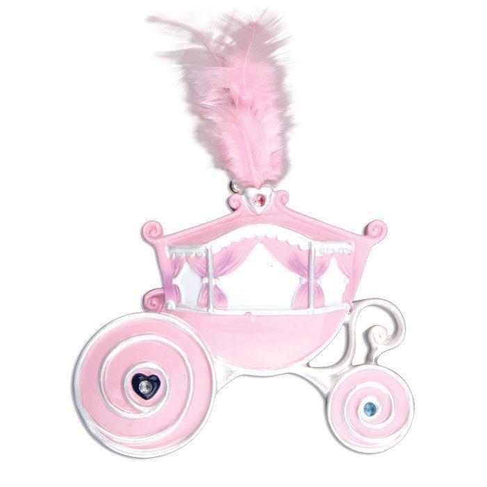 ogg281 pink princess carriage ornament