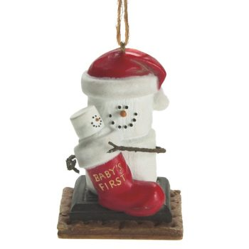 om889 s'more baby's first christmas ornament