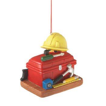 construction tool box ornament