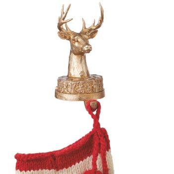 sh036 gold deer head stocking  holder