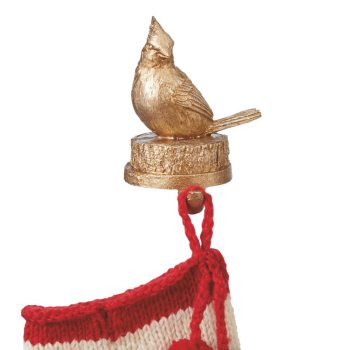 gold cardinal stocking holder