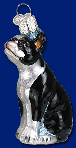old world christmas boston terrier ornament