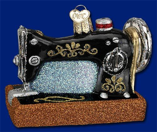 32103 old world christmas sewing machine ornament