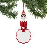 elf on the shelf name the elf personalized ornament