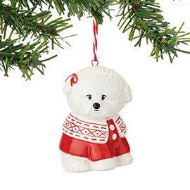 4048585 bichon in sweater dog ornament