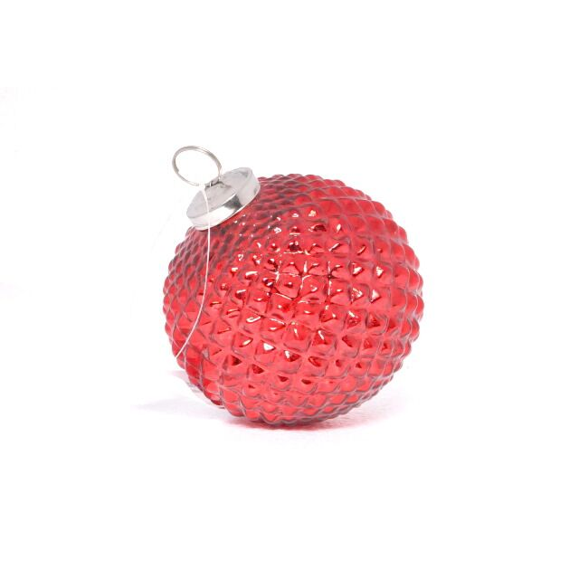 red vintage glass ball ornament