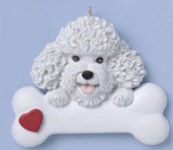 bichon frise dog ornament