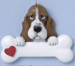 bassett hound dog ornament