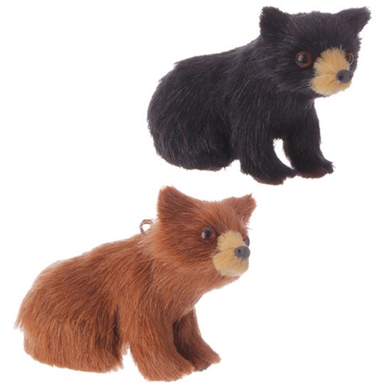 3505151 brown and black bear ornaments