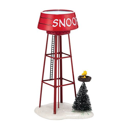 4038645 department 56 peanuts village snoopy water tower