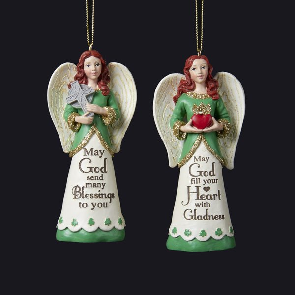 irish angel ornaments may god fill your heart with gladness