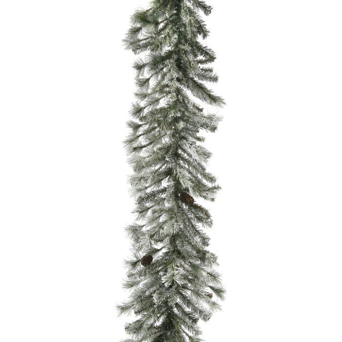MTX37674 frosted alaskan garland unlit garland clear lights