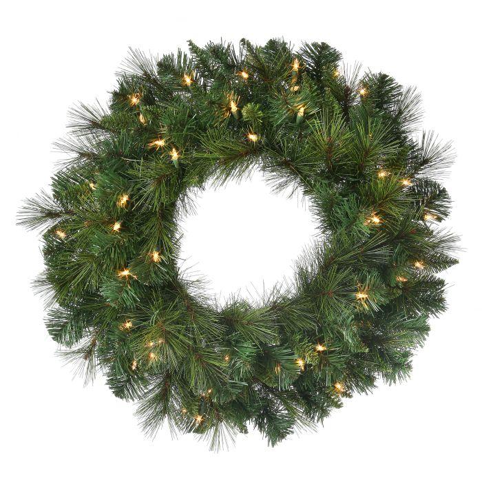 MTX45182 deluxe belgium wreath clear lights unlit wreath