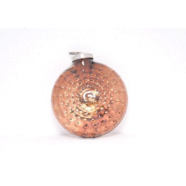 ODE043 bumpy chocolate disc ornament