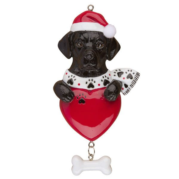 christmas ornaments - Black Lab Christmas Ornament