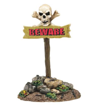 beware the boneyard halloween department 56