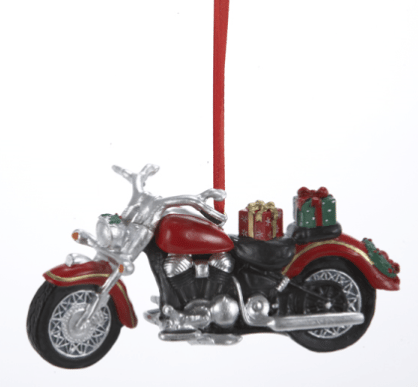 oam106 red motorcycle ornament