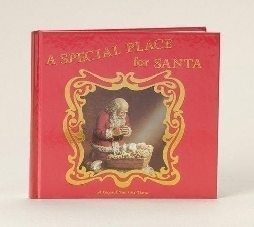 kneeling santa a special place for santa christmas book