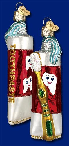 32128 old world christmas toothpaste ornament dental ornament dentist tooth fairy