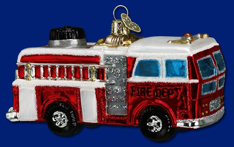 old world christmas fire truck ornament