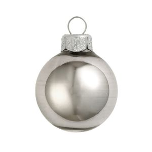 silver shiny glass ball silver boxed ball ornaments