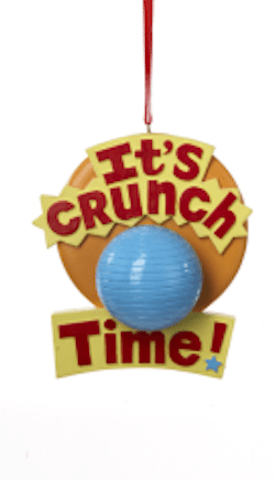 it's crunch time fitness ornament