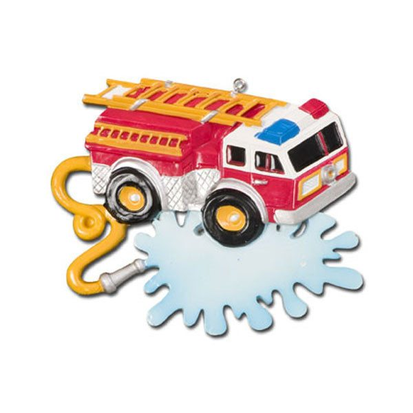 firefighter truck ornament