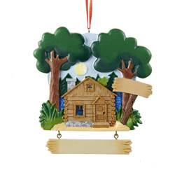 family cabin by the lake ornament