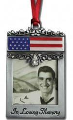 patriotic in loving memory ornament