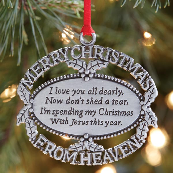 box109 merry christmas from heaven memorial ornament