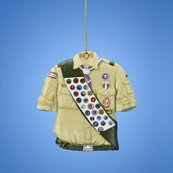 boy scout ornament