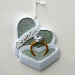 engaged ornament ring box ornament proposal