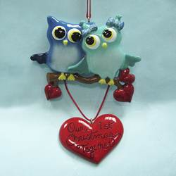 our first christmas owl ornament