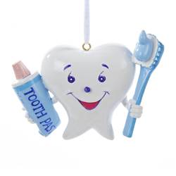 toothbrush toothpaste tooth ornament dentist ornament