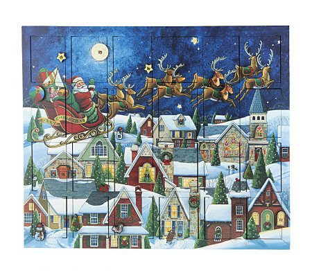 santa sleigh advent calendar byers choice