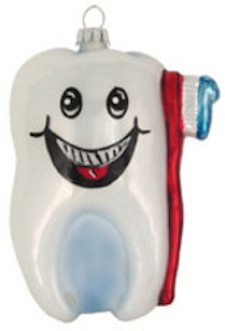 tooth toothbrush ornament