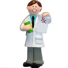 pharmacist man ornament