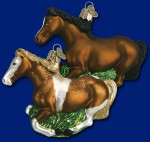 12257 old world christmas mustang ornament